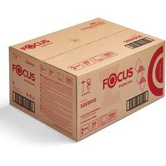 Полотенца бумажные 200 шт. FOCUS (Система H2) Premium, 2-слойные, белые, КОМПЛЕКТ 12 пачек, 24х20, Z-сложение, 5069956/5041537
