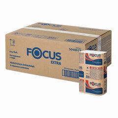 Полотенца бумажные 200 шт. FOCUS (Система H2) Extra, 2-слойные, белые, РАСТВОРИМЫЕ, КОМПЛЕКТ 20 пачек, 24х21,5, Z-сложение, 5048677