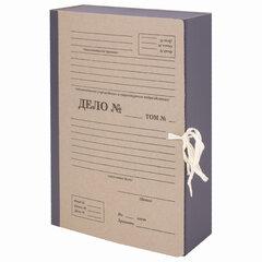 """Папка архивная А4 """"Форма 21"""", 80 мм, переплетный картон/бумвинил, завязки, до 800 л., STAFF, 112167"""