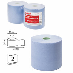 Бумага протирочная 350 м, LAIMA (Система W1) PREMIUM, 2-слойная, 1167 листов в рулоне размером 24х30 см в рулоне, КОМПЛЕКТ 2 рулона, 112511
