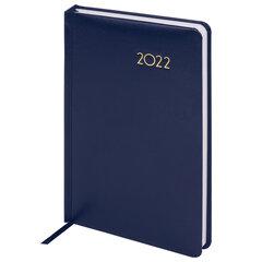 """Ежедневник датированный 2022 А5 138x213 мм BRAUBERG """"Select"""", балакрон, темно-синий, 112776"""