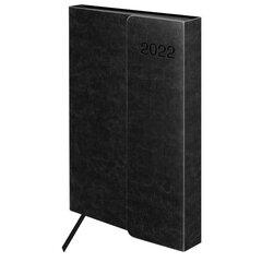 """Ежедневник датированный 2022 А5 148х218 мм GALANT """"Magnetic"""", под кожу, клапан, черный, 112933"""