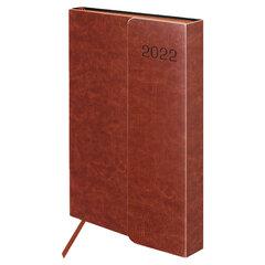 """Ежедневник датированный 2022 А5 148х218 мм GALANT """"Magnetic"""", под кожу, клапан, коричневый, 112934"""