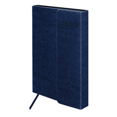 "Ежедневник датированный 2022 А5 148х218 мм GALANT ""Magnetic"", под кожу, клапан, синий, 112935"