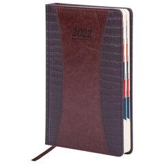 """Ежедневник датированный 2022 А5 148х218 мм GALANT """"CombiContract"""", под кожу, коричневый, 112937"""