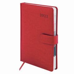 """Ежедневник датированный 2022 А5 148х218 мм GALANT """"Ritter"""", под кожу, красный, 112938"""