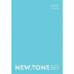 """Тетрадь А4 80 л. HATBER Premium скоба, клетка, глянцевая ламинация, """"NEWtone PASTEL Незабудка"""", 80Т4лA1_05025"""