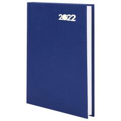 Ежедневник датированный 2022 (145х215мм), А5, STAFF, твердая обложка бумвинил, синий, 113337