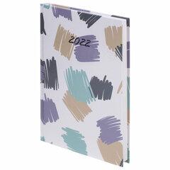 """Ежедневник датированный 2022 (145х215 мм), А5, STAFF, ламинированная обложка, """"Abstraction"""", 113342"""