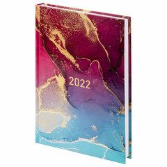 """Ежедневник датированный 2022 (145х215 мм), А5, STAFF, ламинированная обложка, """"Marble"""", 113343"""