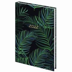 """Ежедневник датированный 2022 (145х215 мм), А5, STAFF, ламинированная обложка, """"Tropical"""", 113344"""
