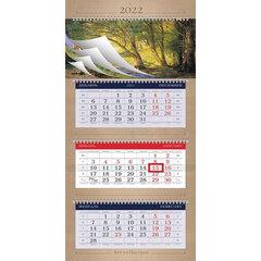 """Календарь квартальный с бегунком, 2022 г., 3 блока, 4 гребня, УльтраЛюкс, """"Art collection"""", HATBER, 3Кв4гр2ц"""