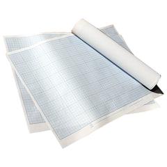 Бумага масштабно-координатная, формат 400х600 мм, синяя