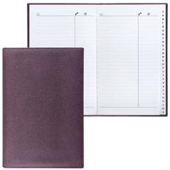 """Телефонная книжка А5 (136х202 мм), BRAUBERG """"Favorite"""", под классическую кожу, 96 л., вырубной алфавит, коричневая, 123502"""