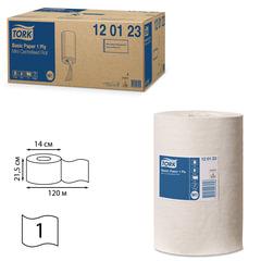 Полотенца бумажные с центральной вытяжкой мини TORK (Система M1), КОМПЛЕКТ 11 шт., Universal, 120 м, белые