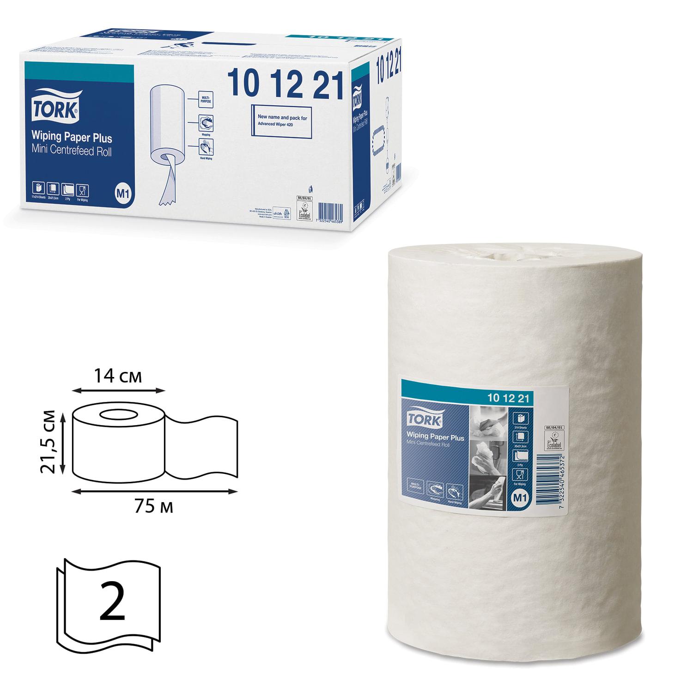 Полотенца бумажные с центральной вытяжкой мини TORK (Система M1), КОМПЛЕКТ 11 шт., Advanced, 75 м, 2-слойные, белые