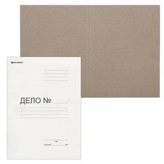 """Папка без скоросшивателя """"Дело"""", картон, плотность 300 г/м2, до 200 листов, BRAUBERG, 124571"""