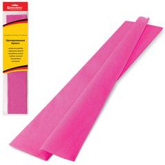 Бумага гофрированная (креповая) СТАНДАРТ, 25 г/м2, розовая, 50х200 см, европодвес, BRAUBERG, 124729