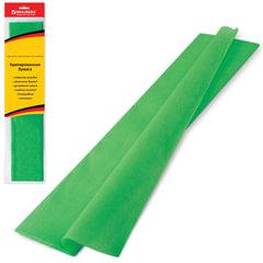 Бумага гофрированная (креповая) СТАНДАРТ, 25 г/м2, зеленая, 50х200 см, европодвес, BRAUBERG, 124731