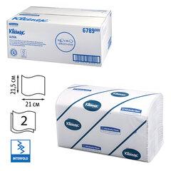 Полотенца бумажные 186 шт., KIMBERLY-CLARK Kleenex, КОМПЛЕКТ 15 шт., Ultra, 2-х слойные, белые, 21х21,5см, Interfold, 601533-534