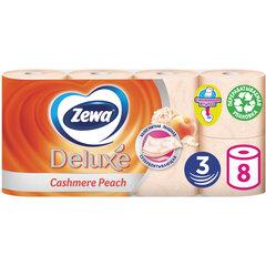 Бумага туалетная 3-х слойная, 8 рулонов (8х18 м), аромат персика, ZEWA Deluxe, 5363