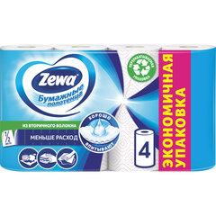 Полотенца бумажные бытовые 2-х слойные, 4 рулона (2х14 м), белые, ZEWA, 144099