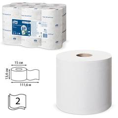 Бумага туалетная 112 м, TORK (Система T9) SmartOne, комплект 12 шт., Advanced, 2-слойная, белая, 472193