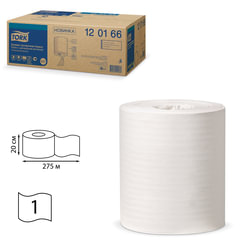 Полотенца бумажные с центральной вытяжкой TORK (Система M2), КОМПЛЕКТ 6 шт., Universal, 275 м, белые, 120166