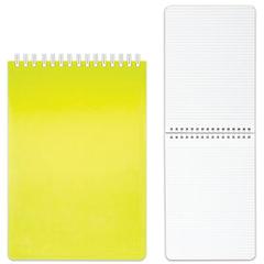 "Блокнот А5 (145х205 мм), 80 л., гребень, пластиковая обложка, клетка, HATBER, ""DIAMOND"", желтый, 80Б5B1гр_02037"