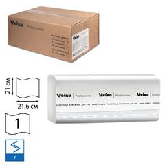 Полотенца бумажные 250 шт., VEIRO (Система F1), комплект 15 шт., Comfort, белые, 21х21,6, V, KV210
