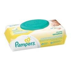 """Салфетки влажные, 54 шт., PAMPERS (Памперс) """"New Baby Sensitive"""", для нежного очищения"""