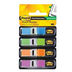 Закладки самоклеящиеся POST-IT Professional, пластиковые, 12 мм, 4 цвета х 35 шт.