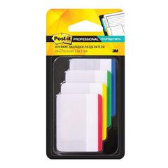 Закладки самоклеящиеся POST-IT Professional, пластик, 50 мм, 4 цвета х 6 шт., суперклейкие