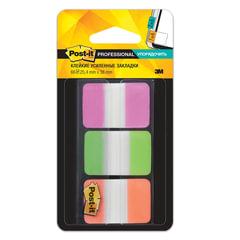 Закладки самоклеящиеся POST-IT Professional, пластик, 25 мм, 3 цвета х 22 шт. суперклейкие