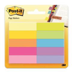 Закладки самоклеящиеся POST-IT Professional, бумажные, 12,7 мм, 10 цветов х 50 шт.