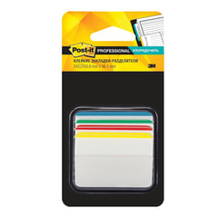 Закладки самоклеящиеся POST-IT Professional, пластик, 50 мм, 4 цвета х 6 шт., суперклейкие, со сгибом