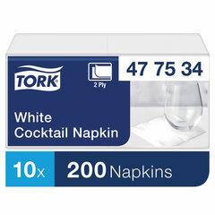 Салфетки TORK Big Pack, 24х23,8, 200 шт., 2-х слойные, белые, 477534