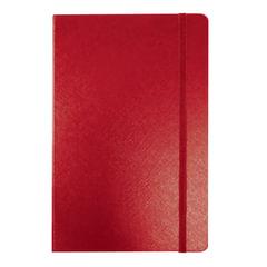 "Блокнот МАЛЫЙ ФОРМАТ (95х145 мм) А7+, BRAUBERG ""Select"", 64 л., балакрон, резинка, линия, красный, 128049"