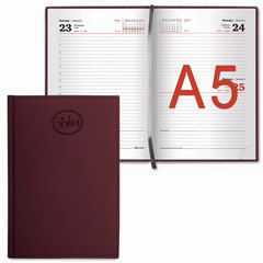 """Ежедневник датированный 2018, А5, BRAUBERG """"Favorite"""", """"фактурная кожа"""", бордовый, 138х213 мм"""