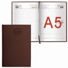 "Ежедневник 2018, А5, BRAUBERG (БРАУБЕРГ) ""Favorite"", ""фактурная кожа"", коричневый, 168 л., 138х213 мм"