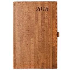 """Ежедневник датированный 2018, А5, BRAUBERG """"Wood"""", """"благородное дерево"""", коричневый, 138х213 мм"""