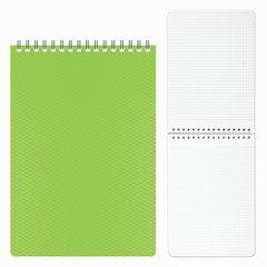 "Блокнот А5 (145х205 мм), 80 л., гребень, пластиковая обложка, клетка, HATBER, ""DIAMOND"", зеленый, 80Б5B1гр"