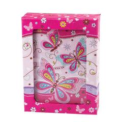 "Блокнот 7БЦ, А6+, 56 л., металлический замок, подарочная упаковка, музыка+зеркало, BRAUBERG ""Бабочка"", 110х150 мм"