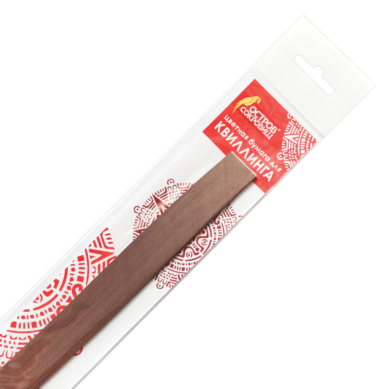 "Бумага для квиллинга ""Шоколад"", 125 полос, 5х300 мм, 130 г/м2, ОСТРОВ СОКРОВИЩ, 128769"