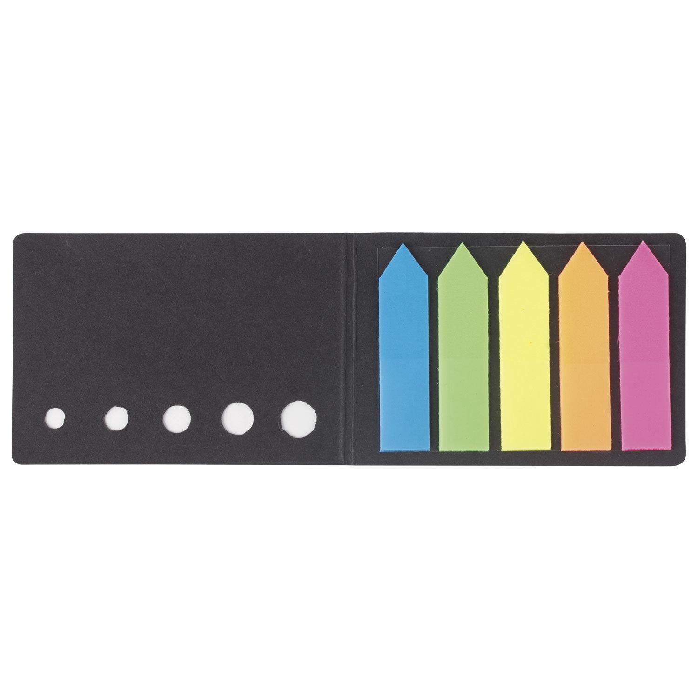 """Закладки клейкие STAFF, НЕОНОВЫЕ пластиковые """"СТРЕЛКИ"""", 50х12 мм, 5 цветов х 20 листов, в картонной книжке, 129358"""