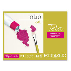 Блок для масла и акрила FABRIANO Tela структура холста, 10 л., 300 г/м2, А3-, 300х400 мм