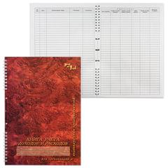 Книга учета доходов и расходов, 50 л., картон, на гребне, А4 (204х290 мм), 13с21-50
