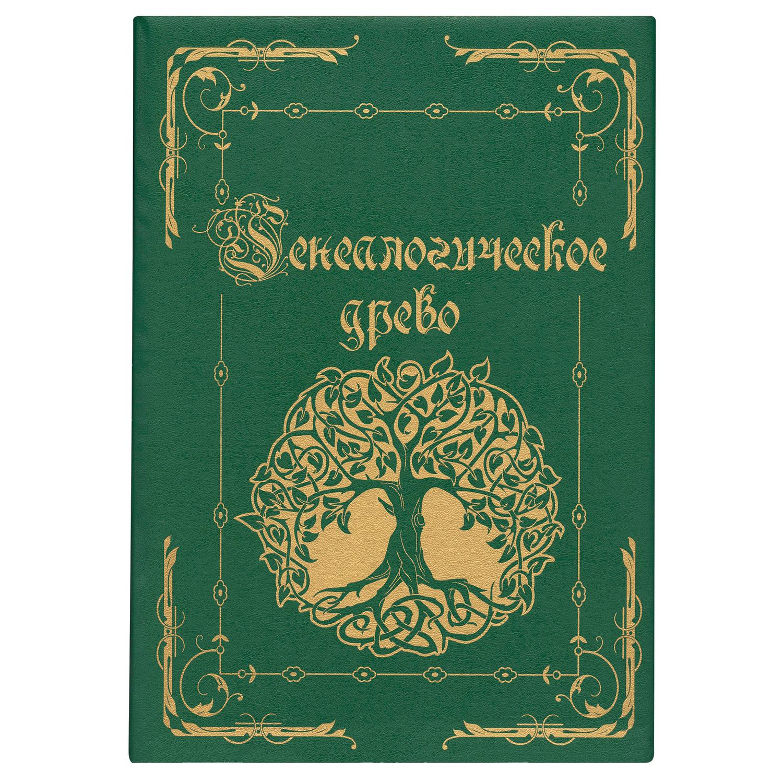 """Папка """"Генеалогическое древо"""", формат А4, 60 листов, твердый переплет, вкладыш А2, лента, ГДР-6"""