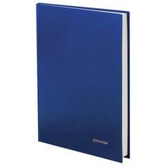 Книга учета 144 л., линия, твердая, бумвинил, блок офсет, А4 (200х290 мм), BRAUBERG, синий, 130227