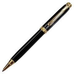 """Ручка подарочная шариковая GALANT """"Black"""", корпус черный, золотистые детали, пишущий узел 0,7 мм, синяя, 140405"""